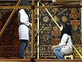 Women Restoration Workers in Lantern Hall - Sheikh Safi Mausoleum - Ardabil - Iranian Azerbaijan - Iran (7421169832).jpg
