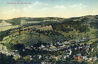 Woodstock, Vermont - Village from Mount Tom in 1913