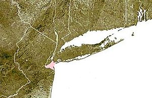 Lower New York Bay - Lower New York Bay shown in pink