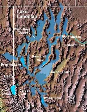 Lake Lahontan - Extent of prehistoric Lake Lahontan