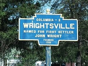 Wrightsville, Pennsylvania - Image: Wrightsville PA Keystone Marker