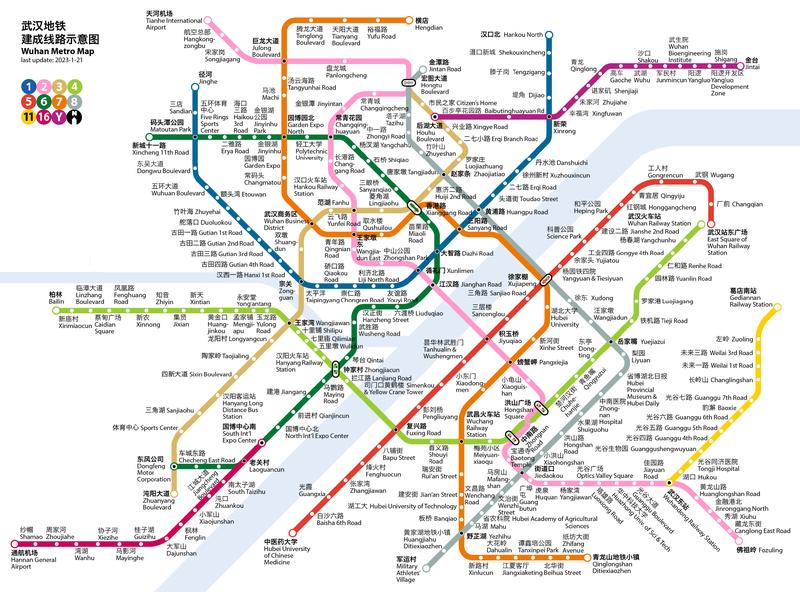 Map of Wuhan Metro