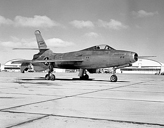 Republic XF-91 Thunderceptor - XF-91 in 1951 at Edwards Air Force Base.