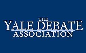 Yale Debate Association - Image: Yale Debate Wordmark Dark Background