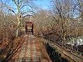 Yantic Falls Bridge and pathway, December 2018.JPG