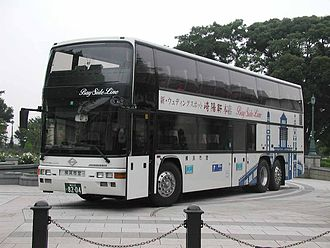 Jonckheere - A 1993 Jonckheere Monaco double-deck coach with Nissan Diesel chassis, operated by Yokohama City Bus.