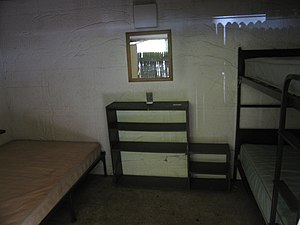 Housekeeping Camp - Image: Yosemite Housekeeping Camp lodging unit interior