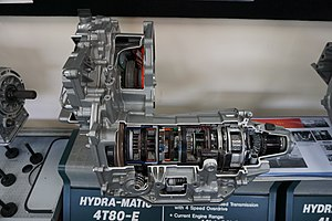 GM 4T80 transmission - A Hydra-Matic 4T80 transmission at the Ypsilanti Automotive Heritage Museum
