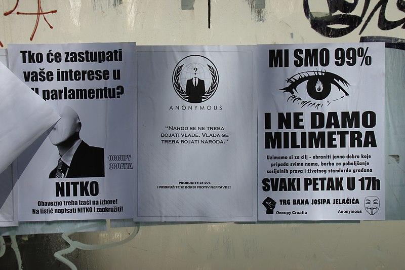 File:Záhřeb, Franje Račkog, letáky Anonymous.jpg