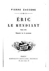 Pierre Zaccone: Éric le mendiant - Un clan breton