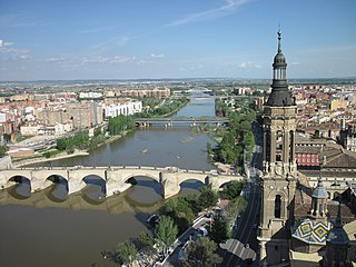 Ebro river in the Iberian Peninsula