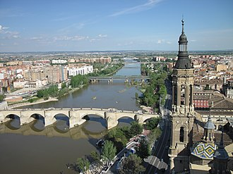 Ebro - The Ebro River in Zaragoza