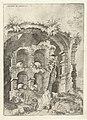 Zevende gezicht op het Colosseum te Rome Colossæi ro prospectvs 7 (titel op object) Romeinse ruïnes (serietitel), RP-P-1882-A-6443.jpg