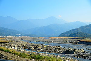 Water supply and sanitation in Taiwan - Zhuoshui River, Taiwan's longest river, running from east to west of Taiwan.