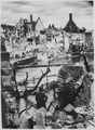 """Choked with debris, a bombed water intake of the Pegnitz River no longer supplies war factories in Nuremberg, vital Rei - NARA - 535562.tif"