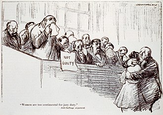 "Women in United States juries - ""Woman are too sentimental for jury duty"" (1915)"