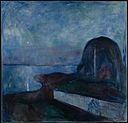 'Starry Night' by Edvard Munch, 1893, Getty Center.JPG