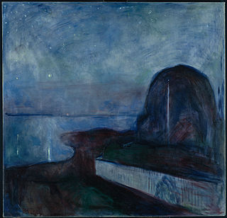 <i>Starry Night</i> (Munch) painting by Edvard Munch (1893 - 1)