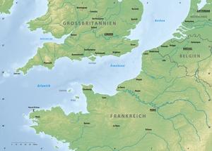 Karte von Ärmelkanal