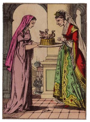 The Blue Bird (fairy tale) - Florine bribes her stepsister.