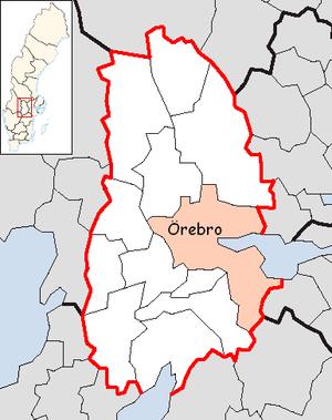 Örebro Municipality - Image: Örebro Municipality in Örebro County
