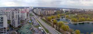 Brovary city in Kyiv Oblast, Ukraine