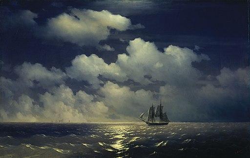 Иван К. Айвазовский - Бриг Меркурий после победы над двумя турецкими кораблями (1848)