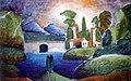 Машков И. И., Пейзаж с башнями. 1911г.jpg