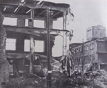 Gorky. Nitel plant after the bombing raid