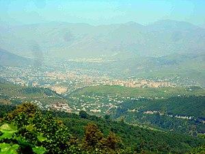 Vanadzor - View of Vanadzor from the southeast