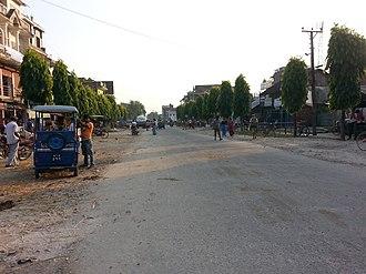 Sagarmatha Highway - Image: सगरमाथा राजमार्गको दृश्य गाईघाट प्रवेश (डि एम गेट) नजिक