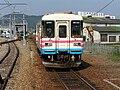三木鉄道 終着 厄神駅へ入る車両15:50着P8260281.jpg