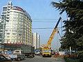 城市道路改造中的广场路与舜耕西路口 - panoramio.jpg