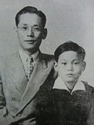 Lee Kun-hee - Young Lee Kun-hee with his father Lee Byung-chul