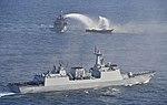 해상 재난구조훈련을 참관하고 있는 좌승함 최영함 (21621180153).jpg