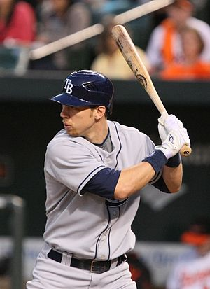 Ben Zobrist - Zobrist batting for the Tampa Bay Rays in 2009