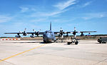 102d Rescue Squadron HC-130 parked on ramp.jpg