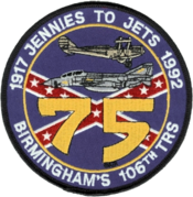 106th Reconnaissance Squadron 75th Anniversary Patch 1992