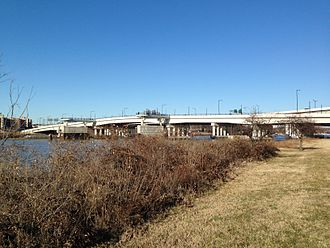 11th Street Bridges - The 11th Street Bridges from the south in 2015