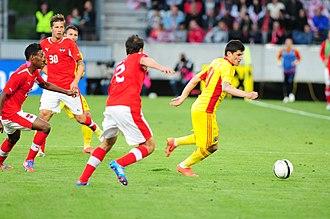 Cristian Tănase - Tănase in action against Austria in June 2012.