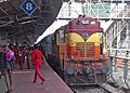 12861 Dakshin link Express pulled in by a WDM2 loco at Visakhapatnam.jpg