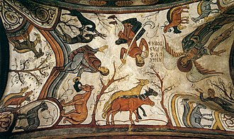 Historia silense - Annunciation of the Shepherds fresco of the 12th century in Pantheon of the Kings at Basilica of San Isidoro, León, where the Historia legionense may have been written.