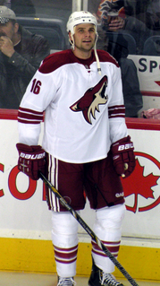 Rostislav Klesla Czech ice hockey player