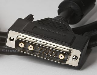 DB13W3 style of D-subminiature connector used as an analog video interface