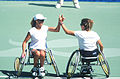 141100 - Wheelchair tennis Daniela Di Toro Branka Pupovac hands 2 - 3b - 2000 Sydney match photo.jpg