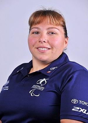 Kylie Gauci - 2012 Australian Paralympic Team portrait of Gauci