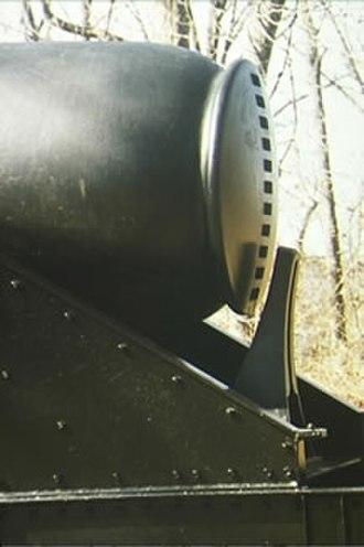 Thomas Jackson Rodman - The distinctive rear knob of a 15-inch Rodman gun