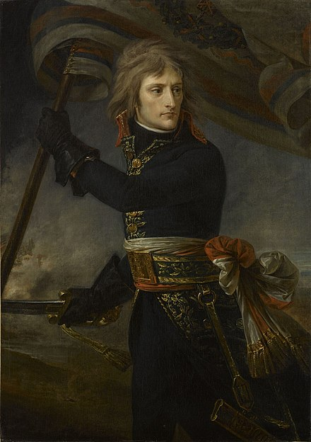Napoleon at the Bridge of Arcole, by Antoine-Jean Gros, (1797), Chateau de Versailles. 1801 Antoine-Jean Gros - Bonaparte on the Bridge at Arcole.jpg