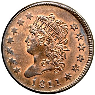 Large cent - An 1811 Classic Head large cent