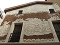 184 Casa Llopart, pl. de la Vila 2 (Martorell), esgrafiats de la façana del c. Sant Antoni.jpg
